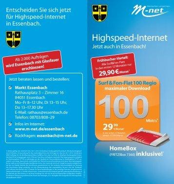 Highspeed-Internet - Markt Essenbach