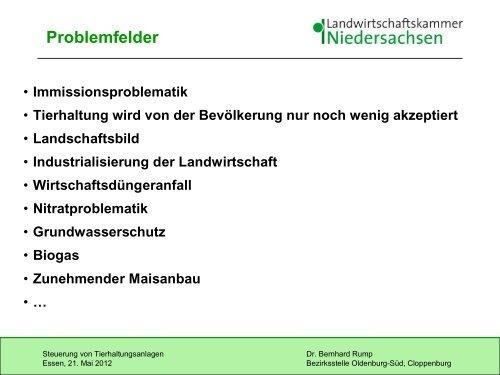 Präsentation Landwirtschaftskammer - Essen-Oldb