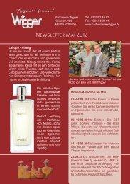 Newsletter Mai 2012 - Parfümerie Wigger