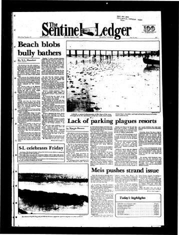 Beach blobs bully bathers - On-Line Newspaper Archives of Ocean ...
