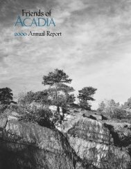 2000 Annual Report - Friends of Acadia
