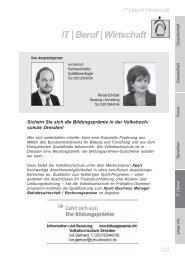 IT | Beruf | Wirtschaft - Volkshochschule Dresden