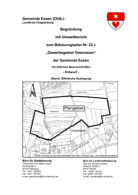 Bebauungsplan Nr. 22 c - Essen-Oldb