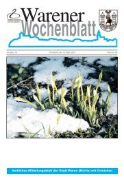 Wochenblatt - Müritz