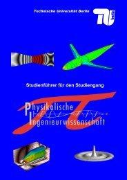 Studienführer (PDF, 512,3 KB) - Fakultät V - Technische Universität ...