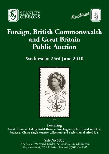 Foreign, British Commonwealth and Great Britain Public Auction
