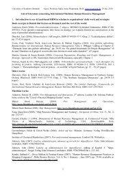 List of Literature concerning International Maritime Human Resource ...