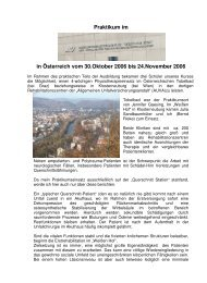 Praktikum im in Österreich vom 30.Oktober 2006 bis 24.November ...