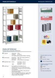 Pendelhefterregale Stecksystem ... - Estant GmbH