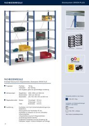 Fachbodenregale Stecksystem - Estant GmbH