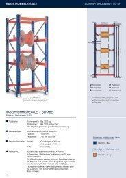 Kabeltrommelregale - gerade - Estant GmbH
