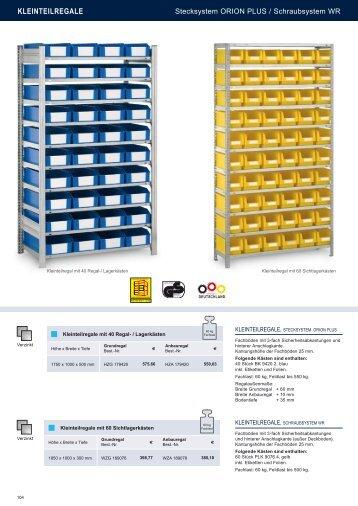 KLEINTEILREGALE - Estant GmbH