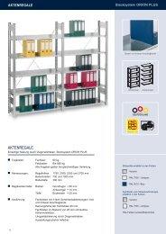 Aktenregale Stecksystem - Estant GmbH