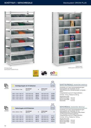 SCHÜTTGUT- / GEFACHREGALE - Estant GmbH