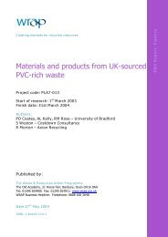 Materials and products from UK-sourced PVC-rich waste