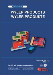WYLER PRODUCTS WYLER PRODUKTE