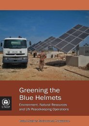 Greening the Blue Helmets - Disasters and Conflicts - UNEP