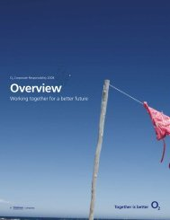 Overview - Corporate Responsibility Report 2009 - O2 Ireland