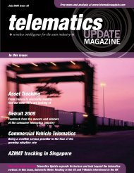 Commercial Vehicle Telematics - Telematics Update