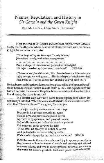a review of the story of sir gawain and the green knight Sir gawain and the green knight translated by simon armitage faber, 114 pp, £1299, january 2007, isbn 978 0 571 22327 5 the survival of poetry, especially if written before the invention of print, has often been a matter of luck or accident.