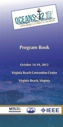 Conference Program - oceans'12 mts/ieee hampton roads