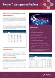 Porthos™ Management Platform - Peak-Ryzex