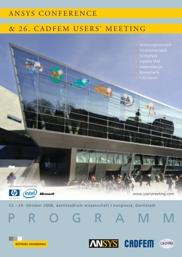 Programmheft ACUM2008 - ANSYS Conference & CADFEM Users ...