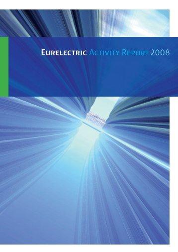 EURELECTRIC Annual Activity Report 2008