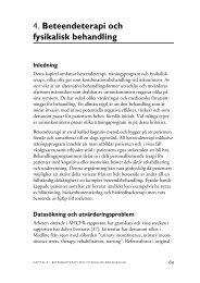 4. Beteendeterapi och fysikalisk behandling - SBU