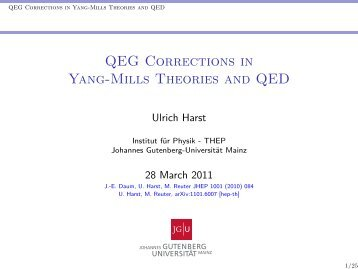 QEG Corrections in Yang-Mills Theories and QED - Percacci web ...