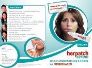 INNOVATIV & EFFEKTIV bei FIEBERBLASEN - sam Pharma
