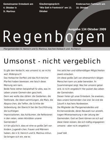 Ausgabe 134 Oktober 2009 - St. Martinus