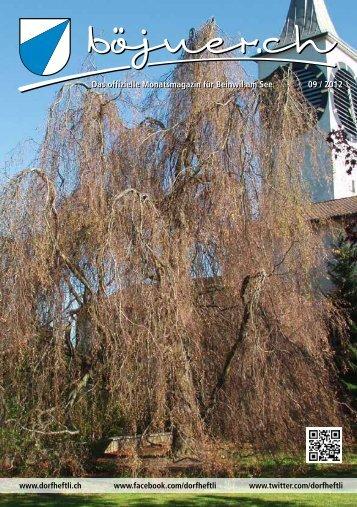 Das offizielle Monatsmagazin für Beinwil am See 09 / 2012 Das ...