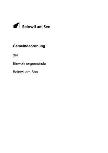 Gemeindeordnung der Einwohnergemeinde Beinwil am See