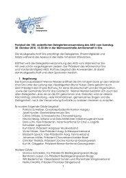 1 Protokoll der 183. ordentlichen Delegiertenversammlung des AKG ...