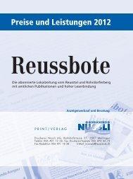 Download Preise/Leistungen Reussbote 2012 als PDF Datei