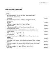 Gemeinsam in die Zukunft - Kantonsspital Aarau