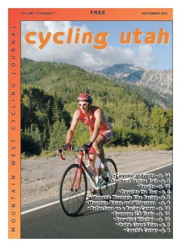 September 2003 Issue - Cycling Utah
