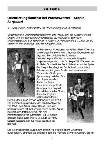 Orientierungslauffest bei Prachtswetter – Starke Aargauer!