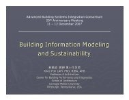 Building Information Modeling and Sustainability - Carnegie Mellon ...