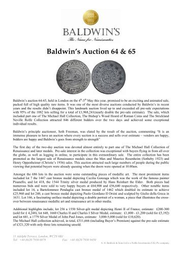 Baldwin's Auction 64 & 65
