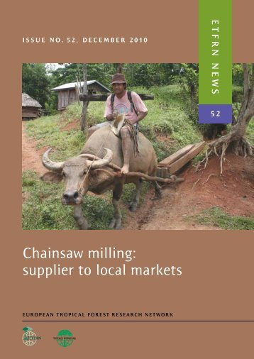 Chainsaw milling - European Tropical Forest Research Network