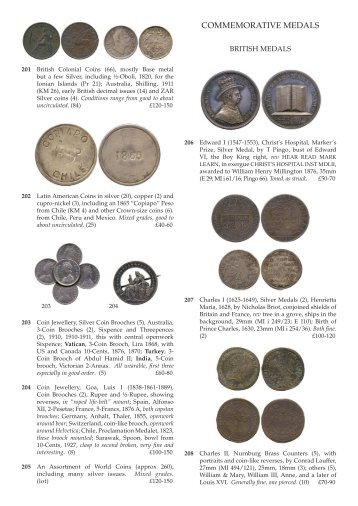 British and World Commemorative Medals - Baldwin's