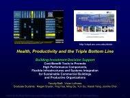 Health, Productivity and the Triple Bottom Line - Carnegie Mellon ...