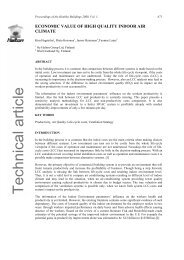 Economic Value of High Quality Indoor climate. - Halton