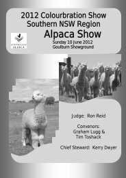 2012 - Southern NSW Region of the Australian Alpaca Association