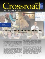 NETWORK NEWS - Crossroad Bible Institute