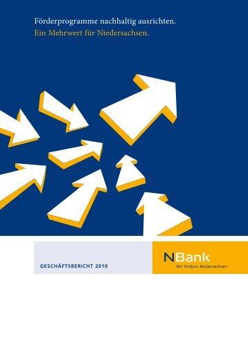 Förderprogramme nachhaltig ausrichten. Ein ... - bei der NBank