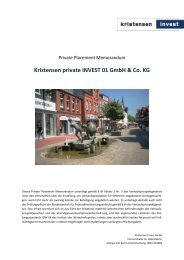 Kristensen private INVEST 01 GmbH & Co. KG