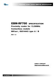 EBM-RF700 SPECIFICATION Proximity reader for 13.56MHz ...